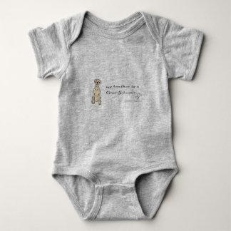 giant schnauzer baby bodysuit