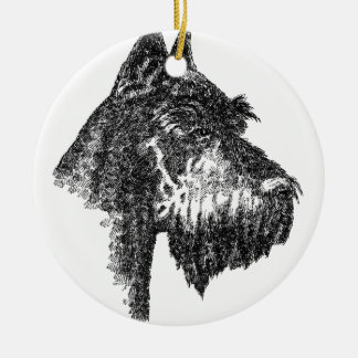 Giant-Schnauzer Christmas Ornament