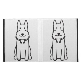 Giant Schnauzer Dog Cartoon iPad Folio Case