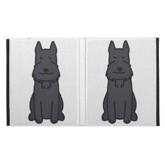 Giant Schnauzer Dog Cartoon iPad Folio Covers