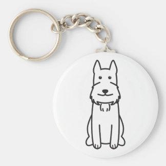 Giant Schnauzer Dog Cartoon Key Chains