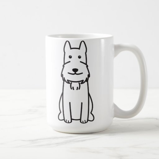 Giant Schnauzer Dog Cartoon Mug