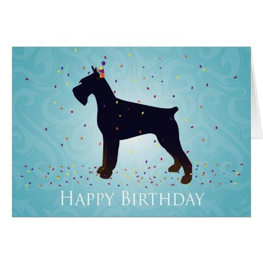 Giant Schnauzer Happy Birthday Design Card