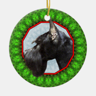 Giant Schnauzer Happy Howliday Christmas Ornament