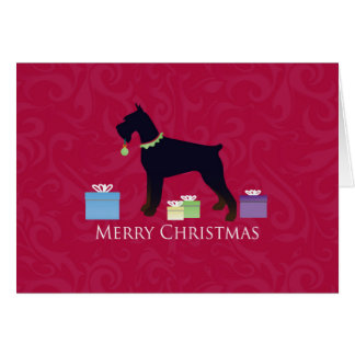 Giant Schnauzer Holiday Greetings Greeting Card