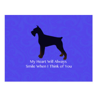 Giant Schnauzer Holiday Greetings Postcard