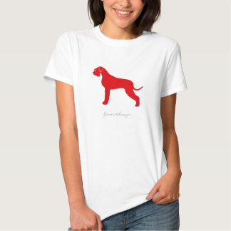 Giant Schnauzer T-shirt (red natural version)