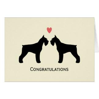 Giant Schnauzers Wedding Congratulations Card