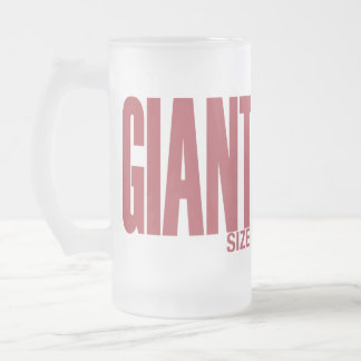 Giant Size Frosted Glass Beer Mug
