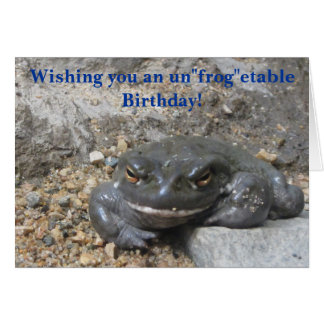 Giant Smiling Frog Birthday Greeting Greeting Card