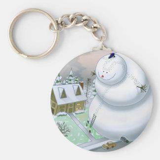 Giant Snowman Keychain