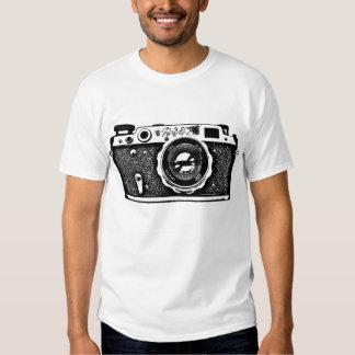 Giant Soviet Russian Camera - Black Tee Shirt