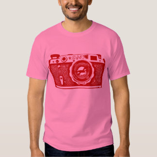 Giant Soviet Russian Camera - Ruby Red T-shirts