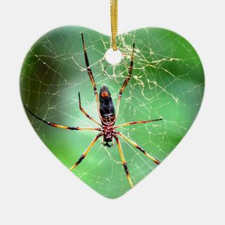 Giant Spider Ceramic Heart Decoration