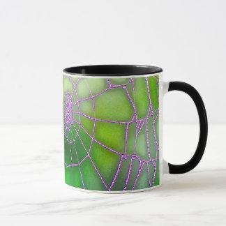 giant spider web halloween mug