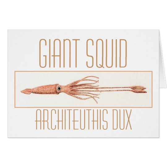 Giant Squid Note Card