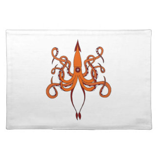 giant squid place mats