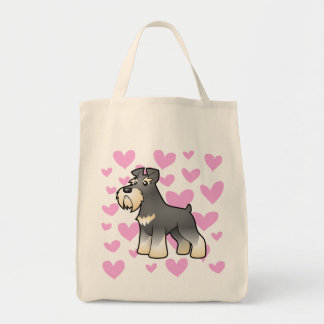Giant/Standard/Miniature Schnauzer Love Tote Bag