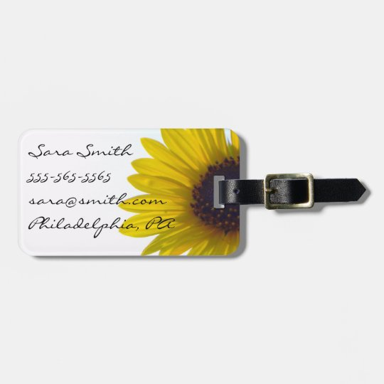 Giant Sunflower Luggage Tag - Customisable