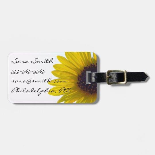 Giant Sunflower Luggage Tag - Customisable