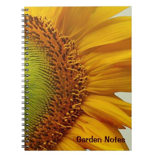 Giant Sunflower Spiral-Bound Notebook