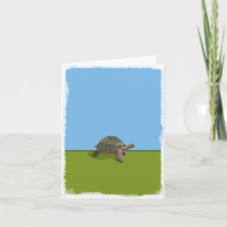 Giant Turtle blank greeting card
