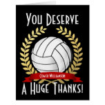Giant Volleyball Coach Thank You Big Greeting Card