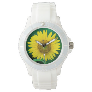 Giant Yellow Sunflower in Summer Watch