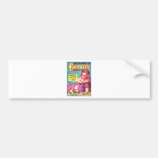 Giantess in a lavender  Dress Bumper Sticker