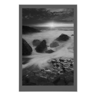 Giants Causeway at sunset Poster