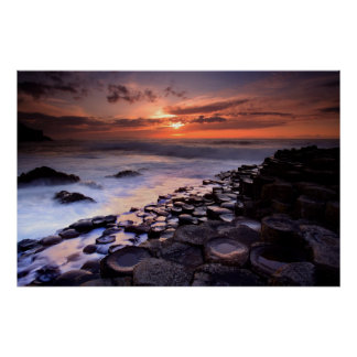 Giant's Causeway - borderless Poster