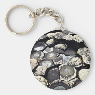 Giant's Causeway, Northern Ireland Basic Round Button Key Ring