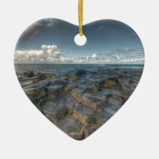 Giant's Causeway, Northern Ireland Ceramic Heart Decoration