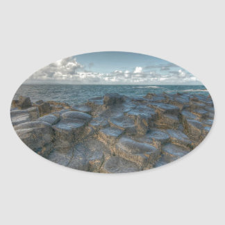 Giant's Causeway, Northern Ireland Oval Sticker