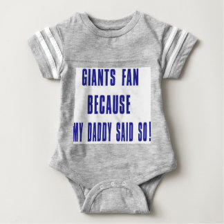 giants fan baby bodysuit