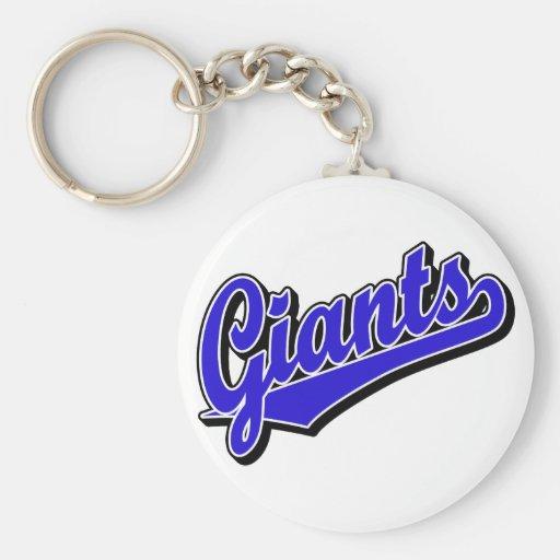 Giants in Blue Keychain