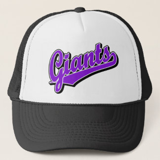 Giants in Purple Trucker Hat
