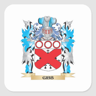 Gibb Coat of Arms - Family Crest Square Sticker
