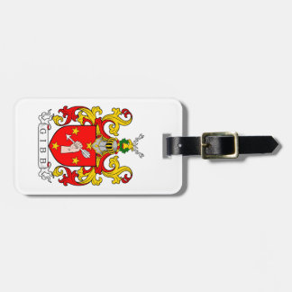 Gibb Coat of Arms (Scottish) Travel Bag Tag