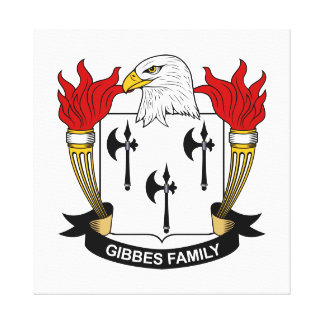 Gibbes Family Crest Gallery Wrap Canvas