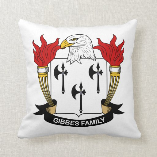 Gibbes Family Crest Pillow