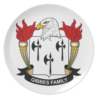 Gibbes Family Crest Plates