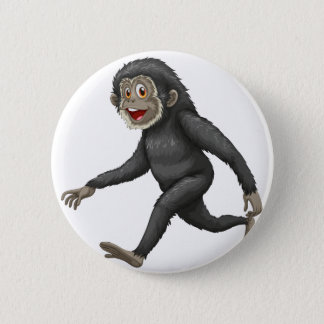 Gibbon 6 Cm Round Badge