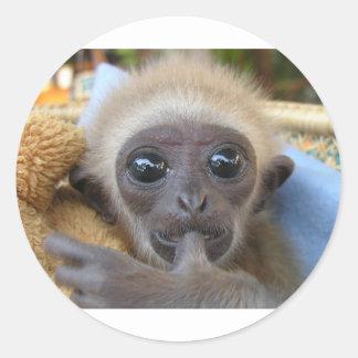 Gibbon Baby Classic Round Sticker