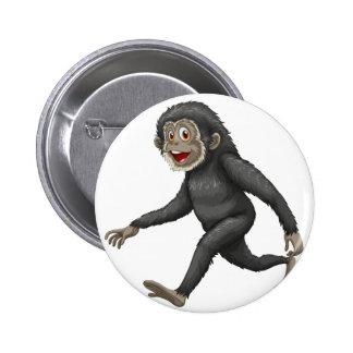 Gibbon 6 Cm Round Badge