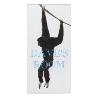 Gibbon Door Sign