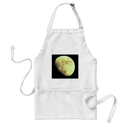 Gibbous Moon Dark background Apron