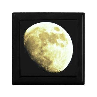 Gibbous Moon Dark background Jewelry Box