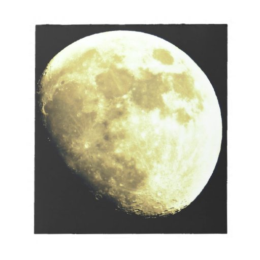 Gibbous Moon Dark background Note Pads