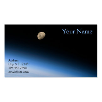 Gibbous Moon from Orbit Business Card